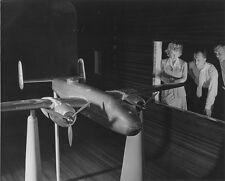 "Wind tunnel test on scale model of a B-25 Bomber 8""x 10 World War II 2 Photo 458"