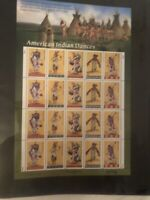 American Indian Dances stamps full sheet, new 32-cent stamps