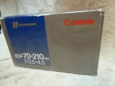 Canon EF 70-210mm F/3.5-4.5 USM Lens metal mount. lovely condition Boxed + cap