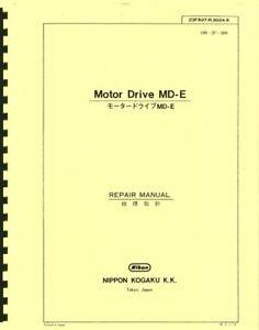 Nikon Motor Drive MD-E Service & Repair Manual Reprint