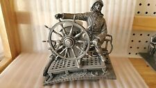 1985 Incredibly Detailed Franklin Mint Pewter Figurine/Sculpture- Into The Storm