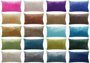 "12x20"" Soft Velvet Microfiber Decorative PILLOW COVER Sofa Lumbar Cushion Case"