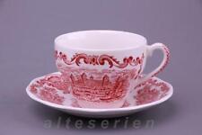 TAZZA di caffè con inferiore Unicorn Royal Homes Of Britain Red Rosso