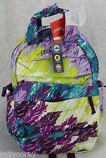 Puma ProCat Radiate Turq Purple Yellow Feather BookBag Backpack 18x12x6 NWT