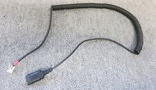 Unbranded Direct Connect Black Curl Coil Lead Cable For Telephone Headset
