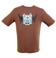 Macmahone Star Men's Bike Tee Top Sports T-shirt in Brown color Large L size