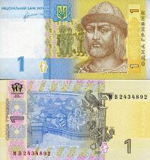 Ukraine 1 Hryvnia UNC Banknote (Gryvnia, Grivna, UAH)