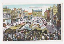 Leek,U.K.Market Place with Venders,Staffordshire,Pri nted,Used,1911