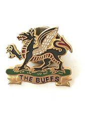 Military East Kent Regt The Buffs Enamel Badge