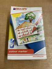 edding 9 Colour Markers • Box Of 12 • Bright Colours • Chisel Tip