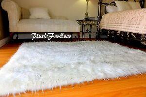 6' x 5' Extreme Plush White Polar Bear Sheepskin Home Faux Fur Rug Nursery Baby