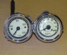 Temperaturanzeige + Öldruckanzeige für Traktor Schlepper Fernthermometer t11/d9