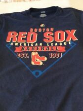 Boston Red Sox Men Medium Majestic Baseball Mlb Pullover Jersey/Shirt