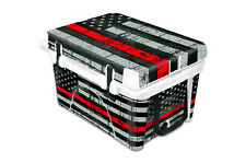 Thickest Wrap 24mil Skin Full for ORCA 40qt Cooler USA Red Line Flag