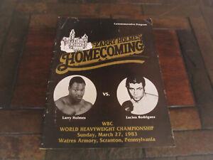 Larry Holmes vs Lucien Rodriguez, WBC Heavyweight Championship Program, 1983
