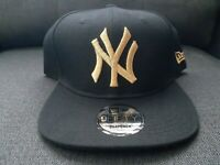New Era 9Fifty New York Yankees Adjustable Snapback Hat Cap Black/Gold