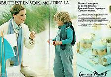 PUBLICITE ADVERTISING 115  1978  GERMAINE MONTEIL cosmétiques  (2p)