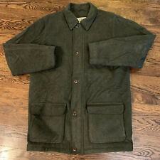 LL BEAN Mens Wool Thinsulate Insulated Winter Coat Jacket Large Tall  Green