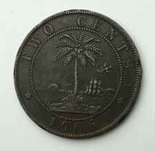 Dated : 1906 - Liberia - Two Cents - 2 Cents Coin - Republic of Liberia