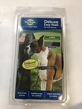 PetSafe Deluxe Easy Walk No Pull Harness for Dogs Large Steel/Blk