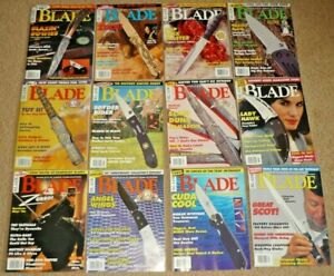 Lot of 12 BLADE Magazines, Knives Complete Year 1998 Volume 25, Uncirculated NOS