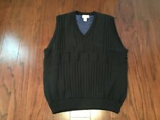 SERIOUS GOLF IRELAND NAVY CABLE KNIT LINED WINDSTOPPER PULLOVER SWEATER VEST XL