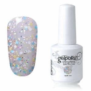 Elite99 UV LED Color Gel Nail Polish 15ML Lacquer No Wipe Top Base Set Manicure