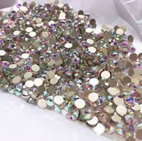 Swarovski crystals AB flat back stones gems charms for nail art clothes 300 pcs