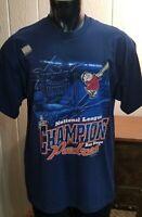 MLB San Diego Padres Baseball 1998 League Champions Blue Lee Sport T-Shirt Sz L.