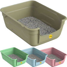 More details for large cat kitten litter tray box high sided uk deep toilet loo luxury catcentre®