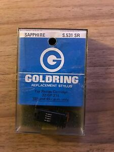 VINTAGE GOLDRING S.531 SR SAPPHIRE STEREO  STYLUS NEEDLE FOR PHILIPS 22 / GP 214