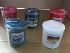 Bundle of 5 Yankee Candle Votives Rare Hard To Find Christmas Magic Tree Bright