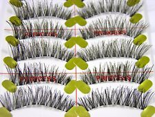 10 Pair Soft Handmade False Fake Eyelashes Natural Lashes Individual Wispies