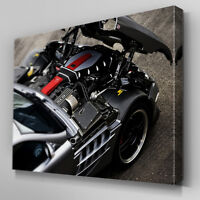 Cars224 Mercedes SLS AMG Engine Canvas Art Ready to Hang Picture Print