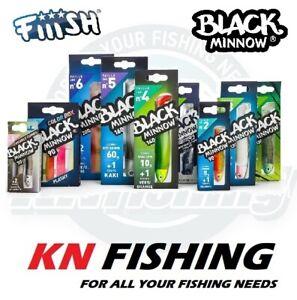 FIIISH BLACK MINNOW 70mm No.1 Silicon Lures Spinning LRF Fishing 3gr - 12gr