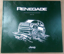 2016 Jeep Renegade 52-page Original Sales Brochure Catalog NEW