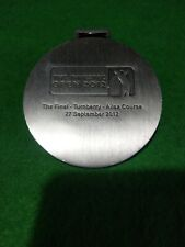 Investec The investec open 2012  golf Bag Tag metal  6.5 cm round  collectable
