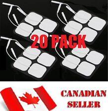 20 Pack TENS 3000 7000 Electro Estim Pads ELECTRODES Massage Carbon Pin Style