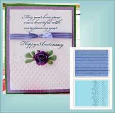 Sizzix Embossing Folders FLOURISH DOTS and RIBBON SET 656980 Wedding Anniversary
