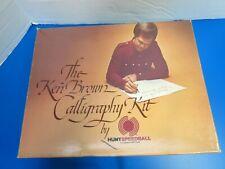 Vintage 1977 Ken Brown Calligraphy Kit By Hunt Speedball Ink Not Included #3078