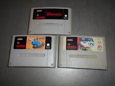 3 jeux vintage SUPER NITENDO  Exhaut heat,  Fifa 98  Scope 6.