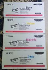 Xerox Phaser 6120 Set of 4 Toner Black Cyan Magenta Yellow 113R00689 690 691 692