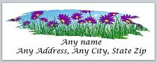30 Personalized Return Address Labels Spring Flowers Buy 3 Get 1 free(c 607)