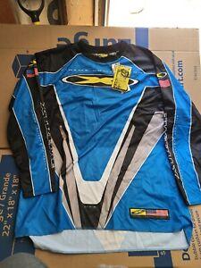 Vintage Motocross Xtreme Compettition Worx Usa Blue Long Sleeve T-Shirt Size XXL