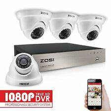 ZOSI 4CH 1080P DVR 4x 3000TVL IR Cut Outdoor CCTV Security Camera System Kit