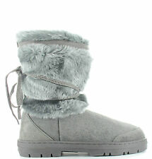 Womens Faux Fur Lined Thick Sole Winter Snow Boots Katrina uk sizes 3-8 Warm