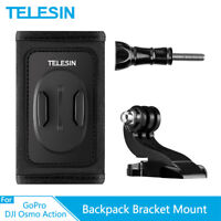 TELESIN Backpack Shoulder Strap Mount+Double J-Hook For Gopro Hero Osmo Action