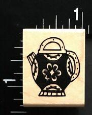 KETTLE TEA POT Hero Arts Wood Mounted Rubber Stamp