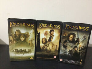 LORD OF THE RINGS VHS - Fellowship, Two Towers, Return of the King - Trilogy Set