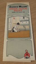 "RARE 1920's Advertising SAMPLES Brochure~""SHERWIN-WILLIAMS Inside Floor PAINT""~"